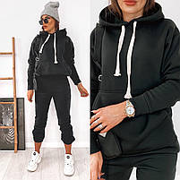 Теплый женский спортивный костюм с худи с капюшоном из трехнити на флисе  (Норма), фото 10