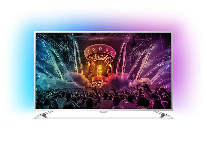 Телевізор 43 дюйма Philips 43PUS6554 (PMR 60Гц, Ultra HD, Smart, Wi-Fi, DVB-T2/S2)