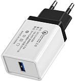 Мережевий зарядний пристрій (адаптер, зарядка) UKC 5216 Fast Charge QC 3.0 AR 60 (4311), фото 2