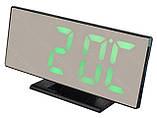 Электронные LED часы с будильником и термометром UKC DS-3618L Black (зеленная подсветка) (5096) Siamo, фото 3
