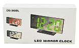 Электронные LED часы с будильником и термометром UKC DS-3618L Black (зеленная подсветка) (5096) Siamo, фото 7