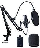 Студийный микрофон Manchez BM800 (Jack 3.5 мм) со стойкой пантограф и поп-фильтром Black Siamo, фото 4