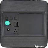 Часы VST 872 черное дерево (зеленая подсветка) (6995) Siamo, фото 3