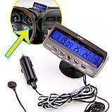 Годинник автомобільні VST 7045V з індикацією заряду АКБ (з вольтметром), і двома термо датчиками (3802), фото 5