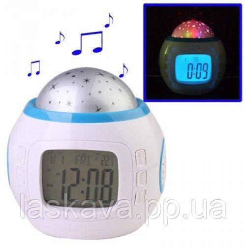 Часы с будильником и проектором звездного неба UKC 1038 (4762) Siamo