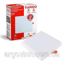 Свiтлодiодний свiтильник VARGO  квадрат, потужність 18W, 175-265V з регульованими кліпсами (111781)