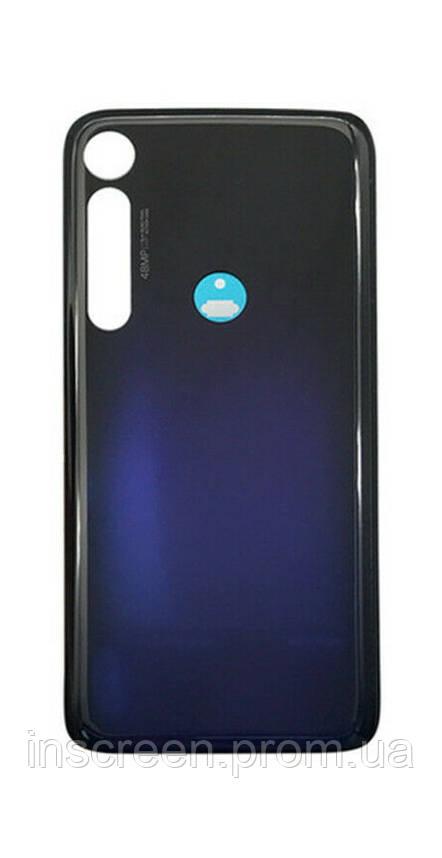 Задня кришка Motorola XT2019 Moto G8 Plus синя, Dark Blue, Оригінал Китай, фото 2