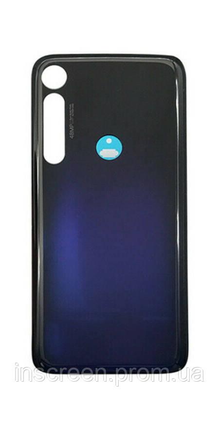 Задня кришка Motorola XT2019 Moto G8 Plus синя, Dark Blue, Оригінал Китай