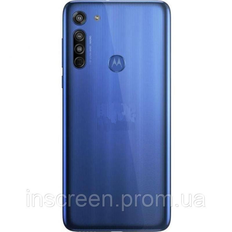 Задня кришка Motorola XT2045-1 Moto G8 синя, Neon Blue, Оригінал Китай