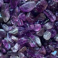 Камень натуральный. Аметист, крошка, фракция 3-5 мм. Уп. 20 г