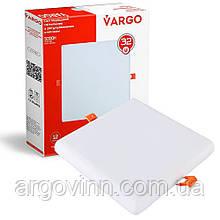 Свiтлодiодний свiтильник VARGO  квадрат, потужність 32W, 175-265V з регульованими кліпсами (111783)