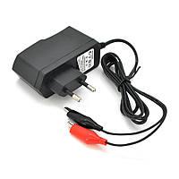 Автоматичне ЗУ для акумулятора 6В, YS-0750100, 100-240V, Струм заряду 7.5 V / 1A, крокодили в комплекті