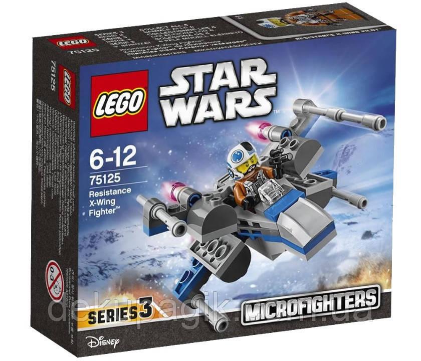 Lego Star Wars X-wing истребитель Сопротивления 75125