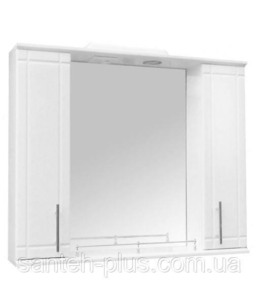 Зеркало 85 с двумя пеналами и подсветкой З-11/4