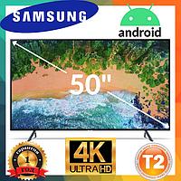 Телевизор Samsung экран 50 дюймов, Телевизор Самсунг 50 дюймов 4К, ANDROID