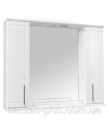 Зеркало 105 с двумя пеналами и подсветкой З-11/3, фото 2