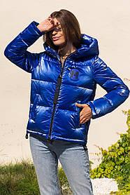 Коротка зимова куртка кольору електрик пуховик коротка розмір 42-52