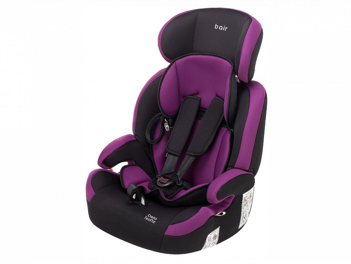 Автокрісло Bair Beta Iso-fix 123 (9-36 кг) DBI1824 чорний - фіолетовий