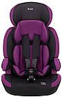 Автокрісло Bair Beta Iso-fix 123 (9-36 кг) DBI1824 чорний - фіолетовий, фото 2