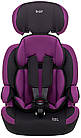 Автокрісло Bair Beta Iso-fix 123 (9-36 кг) DBI1824 чорний - фіолетовий, фото 3
