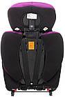 Автокрісло Bair Beta Iso-fix 123 (9-36 кг) DBI1824 чорний - фіолетовий, фото 6