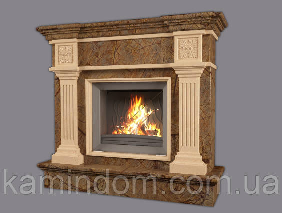 Мраморный камин Кiev braun