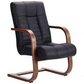 Кресло офисное Атлантис CF орех светлый кожзаменитель Неаполь N-20 (AMF-ТМ)