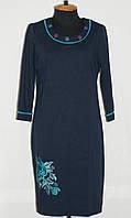 Платье женское 50-60 р-ры Вышитые цветы