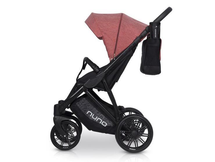 Прогулянкова коляска Riko Nuno 03 Scarlet (коралова тканина - чорна тканина) Riko. Польща