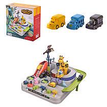 Трек паркінг кнопковий Зоопарк механічний розвиваючий для малюків - серія Перші кроки (First step).