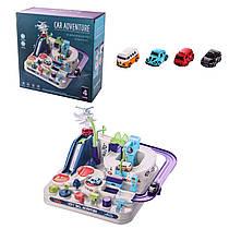 Трек паркінг кнопковий Місто механічний розвиваючий для малюків - серія Перші кроки (First step).