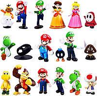 Набор игрушек Фигурки героев игры Супер Марио 18 шт