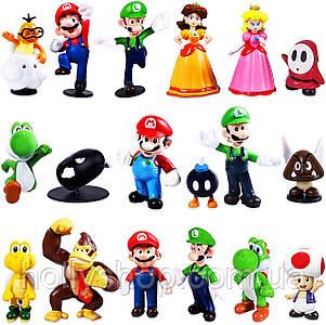 Набір іграшок Фігурки героїв гри Супер Маріо 18 шт