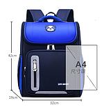 Рюкзак школьный голубой SM Baby, фото 4