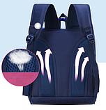 Рюкзак школьный голубой SM Baby, фото 5