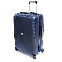 Большой удобный чемодан на 4-колесах 120 л Snowball Robust 91403 синий, фото 1