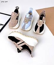 Женские замшевые кроссовки на платформе Maxi