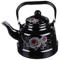 Чайник емальований A-PLUS 1.1 л для плити, фото 1