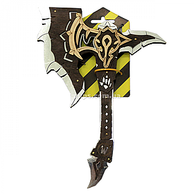 Дерев'яна сокира Орків Chrome Black «Сувенір Декор» World of Warcraft, 30*19 см (312345)