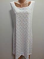 Женская трикотажная ночная рубашка майка батальный размер