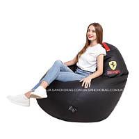 Кресло-Мешок большого размера L 130x90 см Ferrari Black