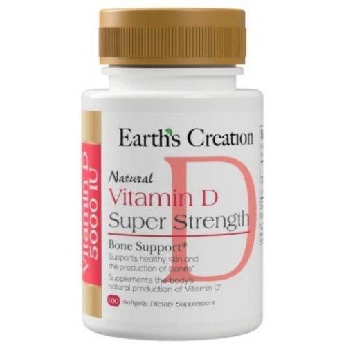 Earths Creation Vitamin D 5000 IU 100 капсул
