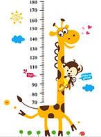 Наклейка виниловая Линейка Жирафик 3D декор