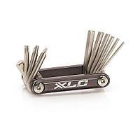 Набор шестигранников XLC, 10 функций, серебристый