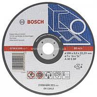 Отрезной круг,прямой, по металлу 115x22.23x1.6 Bosch