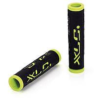 Грипсы XLC GR-G07 'Dual Colour', черно-зеленые, 125мм