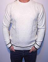 """Стильный мужской свитер с круглым вырезом """"390"""""""