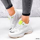Кросівки жіночі Agnes білі + салатовий 3443, фото 4