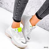 Кросівки жіночі Agnes білі + салатовий 3443, фото 5