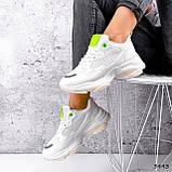 Кросівки жіночі Agnes білі + салатовий 3443, фото 7